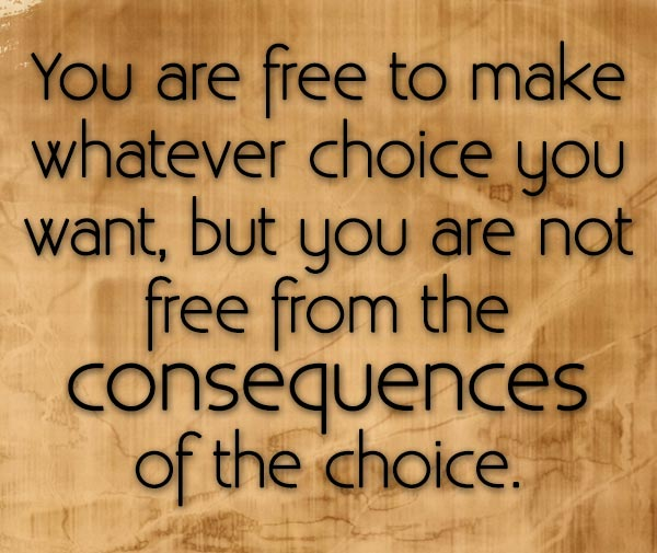you-are-free-to-make-whatever-choice-you-want-but-you-are-not-free-from-the-consequences-of-the-choice